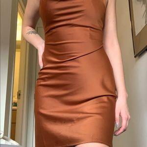 Urban Outfitters Dresses - Silky burnt orange/copper dress